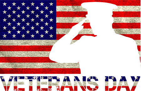 veterans day sign illustration design over a blank background