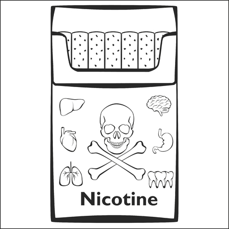 Stop smoking, idea concept. Vector illustration on a blank background