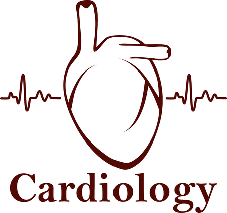 heart beat: Vector human heart medical symbol of cardiology