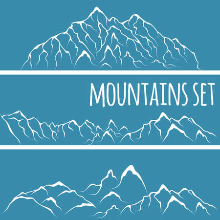 mountaintop: Vector illustration of a mountain range. Alpine glacier