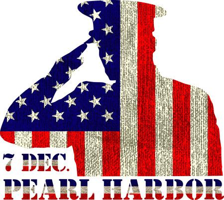 Parel haven. Dodenherdenking. Vector illustratie. patriottische achtergrond
