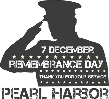 perlas: Pearl Harbor. Día de la conmemoración. Ilustración del vector. Fondo patriótico
