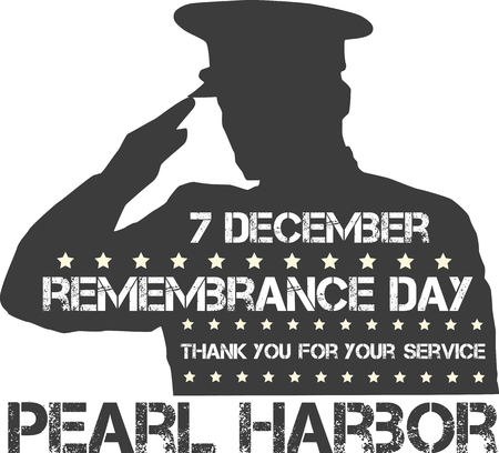 remembrance day: Pearl Harbor. Remembrance day. Vector illustration. Patriotic background