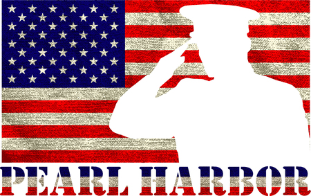 Pearl Harbor. Remembrance day. Vector illustration. Patriotic background