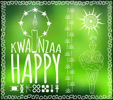 kwanzaa: Festival Kwanzaa. Happy Kwanzaa. Holiday card Vector illustration