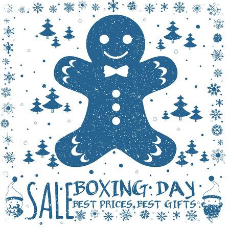 boxing day sale: Boxing day sale design. Invitation card, festive background