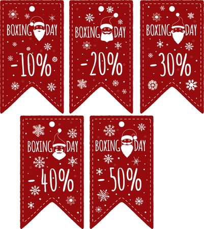 boxing day special: Price Tags Design Set. Boxing Day Price