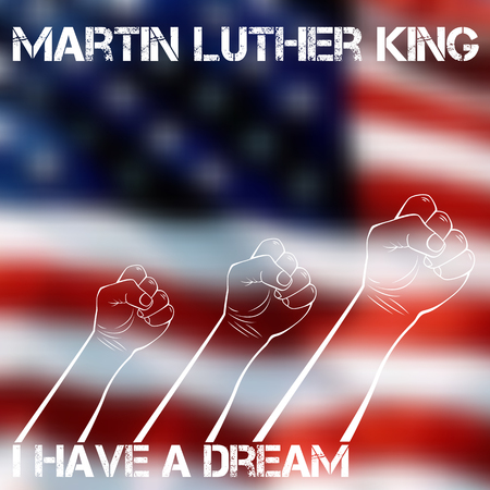 Martin luther king day greeting card. Vector illustration