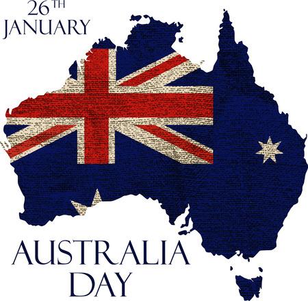 オーストラリアの日」ポスター。オーストラリア日の背景。国立お祝いカード。