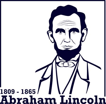 Silhouette Abraham Lincoln. American president, vector illustration