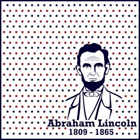 lincoln: Silhouette Abraham Lincoln. American president, vector illustration