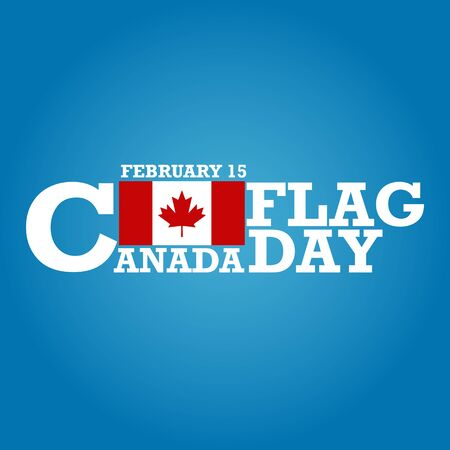 national holiday: Canada Flag Day, national holiday. Vector illustration