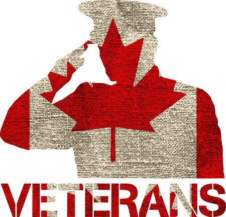 veteranen illustratie vlagteken ontwerp op een lege achtergrond