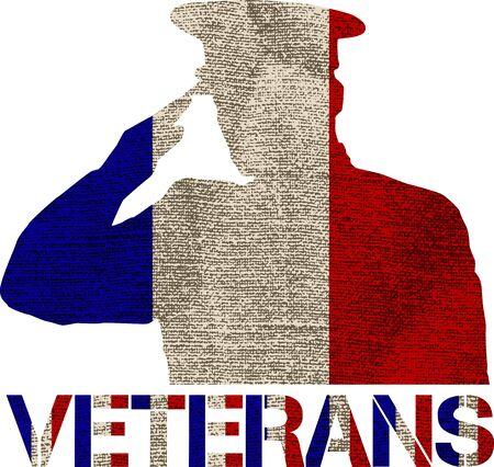national hero: veterans flag sign illustration design over a blank background Illustration