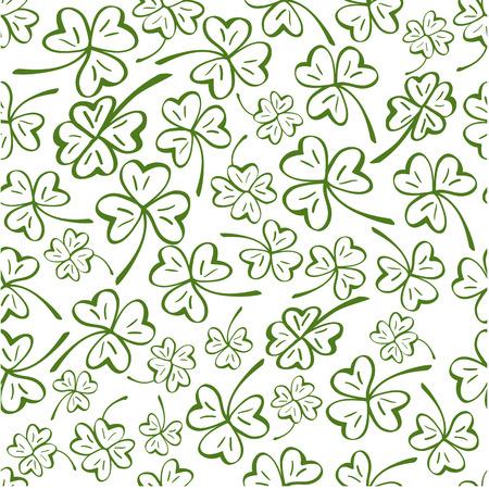 Cups naadloos patroon. Vector patroon voor St. Patrick Dag.