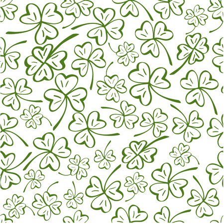 Cups seamless pattern. Vector pattern for St. Patrick Day.