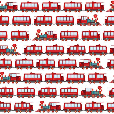 loco: Vector pattern of vintage locomotives on a blank background