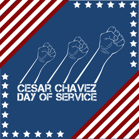 Cesar Chavez, day of service. Vector illustration Illustration