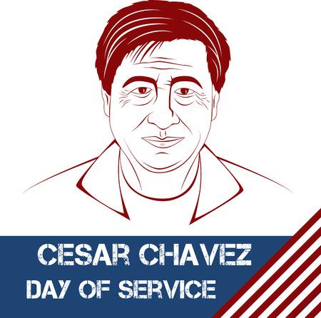 Cesar Chavez, day of service. Vector illustration Ilustração