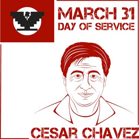 publicist: Cesar Chavez, day of service. Vector illustration Illustration
