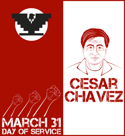 workers rights: Cesar Chavez, day of service. Vector illustration Illustration
