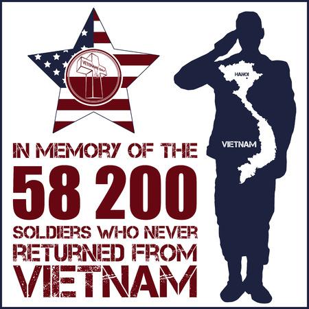 délivrance: La guerre du Vietnam. Jour du Souvenir. Vector illustration de la carte patriotique