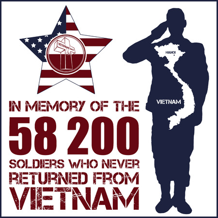 Vietnam war. Remembrance day. Vector illustration Patriotic card Иллюстрация