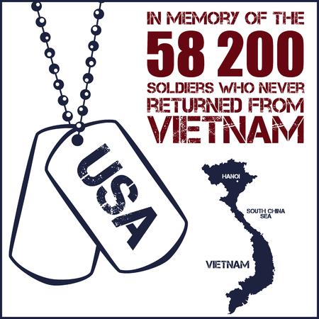 vietnam war: Vietnam war. Remembrance day. Vector illustration Patriotic card Illustration