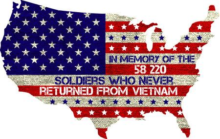 Vietnam war. Remembrance day. Vector illustration Patriotic card Illustration