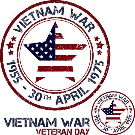 Vietnam war. Remembrance day. Vector illustration Patriotic stamps Иллюстрация