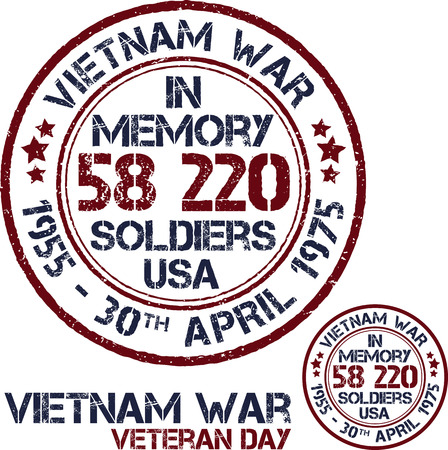d�livrance: La guerre du Vietnam. Jour du Souvenir. timbres patriotiques Vector illustration Illustration