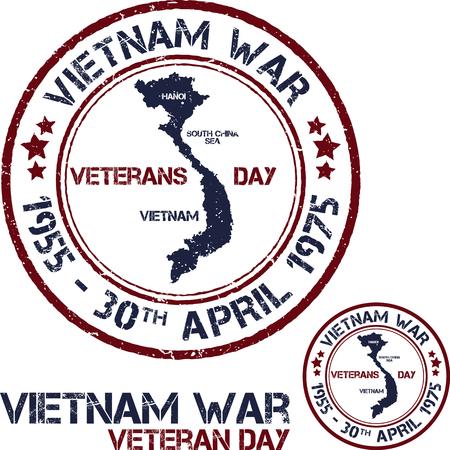 remembrance day: Vietnam war. Remembrance day. Vector illustration Patriotic stamps Illustration