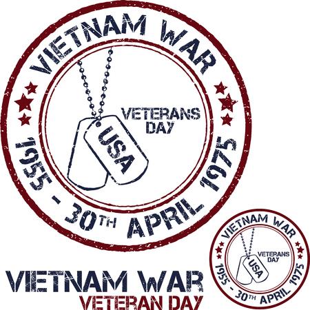délivrance: La guerre du Vietnam. Jour du Souvenir. timbres patriotiques Vector illustration Illustration