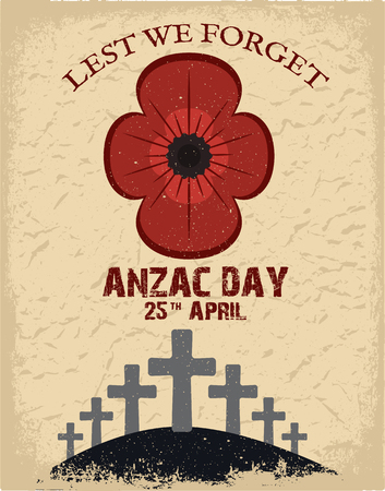 day to day: Anzac day.  Day card in vector format.