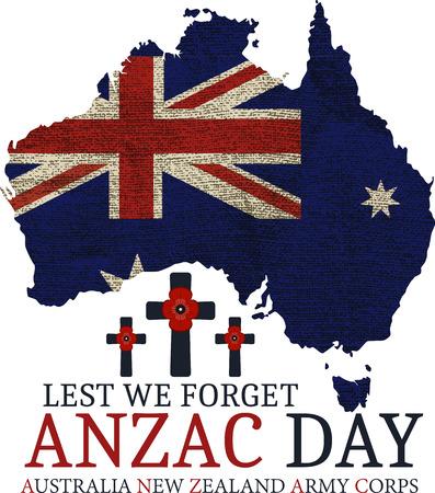 澳纽军团日。日卡矢量格式。