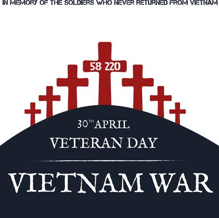 deliverance: Vietnam war. Remembrance day. Vector illustration Patriotic card Illustration