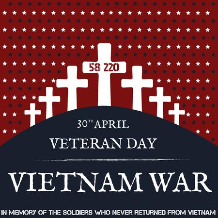 délivrance: La guerre du Vietnam. Jour du Souvenir. Vector illustration carte Pattic Illustration