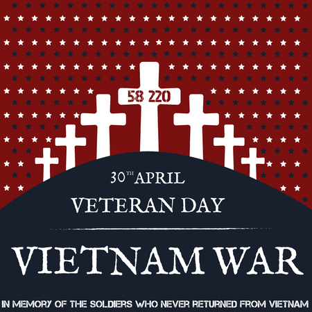 remembrance day: Vietnam war. Remembrance day. Vector illustration Patriotic card Illustration