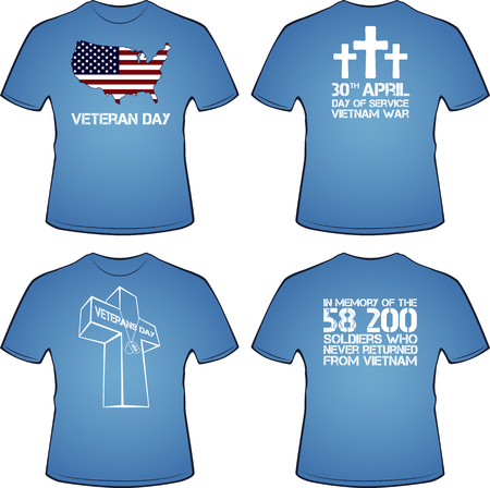 overseas: Graphic T- shirt design. Vietnam war, illustration Illustration