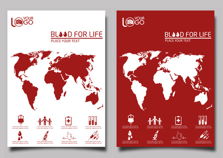 donor: Blood donor design template. Leaflet cover presentation background.