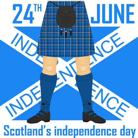 irish ethnicity: Scotlands independence day. Greetings illustration. Card design template .
