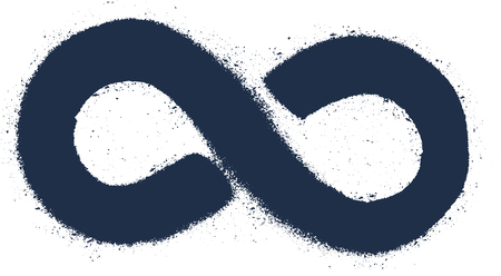 signo de infinito: Grunge drawing infinity sign. Grunge element. Vector illustration