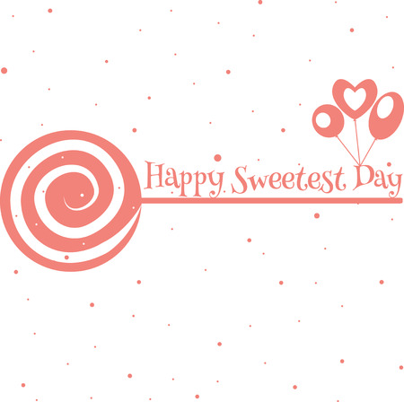 Happy sweetest day greetings card vector illustration royalty free happy sweetest day greetings card vector illustration stock vector 66780725 m4hsunfo