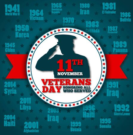 Veterans day greeting card template Stock Photo