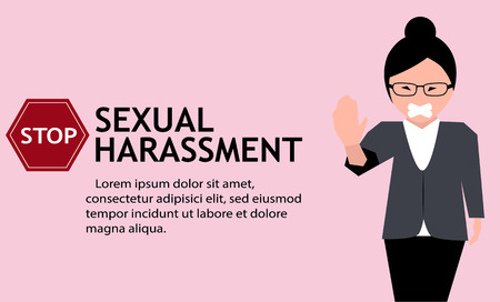 Sexual harassment poster with girl.