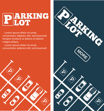 Parking lot flyers in minimalist style