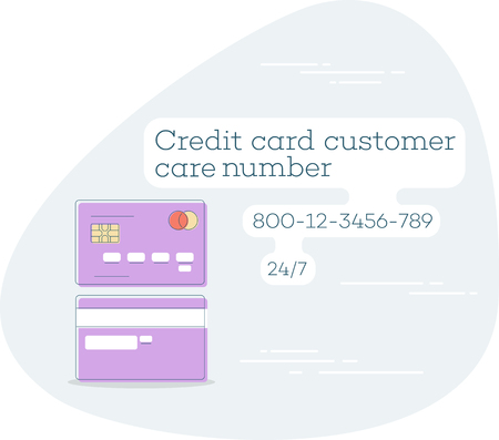 Credit card customer care trendy concept in line art style. Banking and finance, e-commerce service sign, business technology, retail and shopping vector illustration.