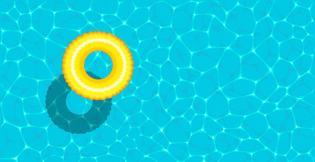 Summer pool party banner with space for text