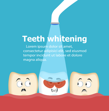 Professional teeth whitening vector illustration