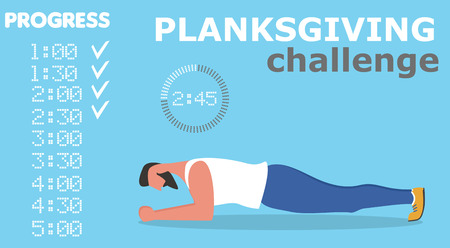 Fitness man doing planking exercise